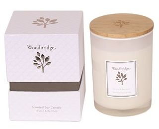 Aromatize WOODBRIDGE Orchid & Bamboo Scented Soy Candle Medium