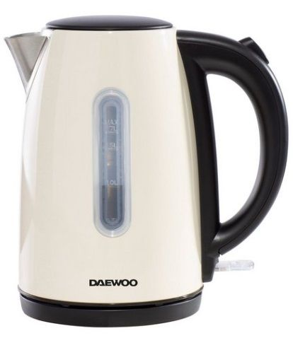 DAEWOO 3kW Kensington 1.7l Jug Kettle Cream