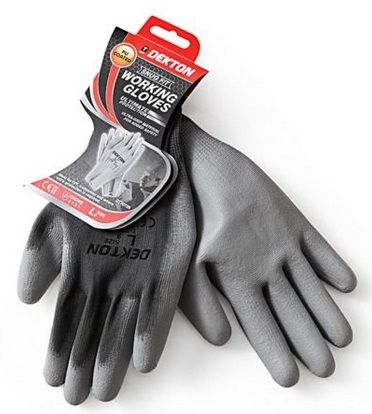 DEKTON Snug Fit PU Coated Working Gloves Grey Size L