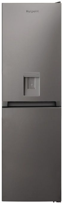 HOTPOINT 183cm Freestanding Frost Free Fridge Freezer with Water Dispenser Silver HBNF55181SAQUA