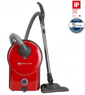 SEBO Bagged Cylinder Vacuum Cleaner AIRBELT D2 RED ePower 90913GB