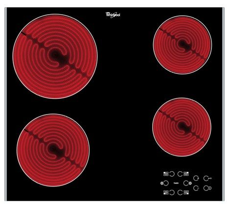 WHIRLPOOL 60cm Electric Touch Control Ceramic Hob AKT8090LX